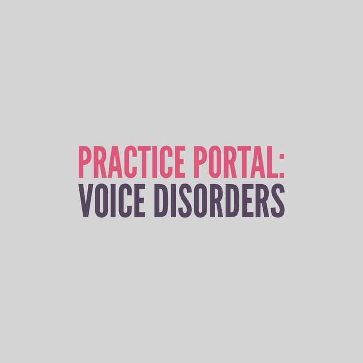 Voice Disorders: Curated and peer reviewed content on clinical topics. #speech #SLP