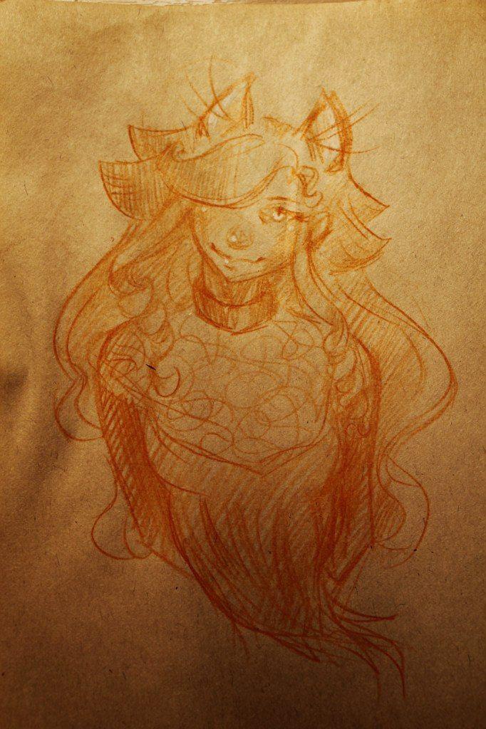 Anime girl. Fox. Author: Oreki Rea