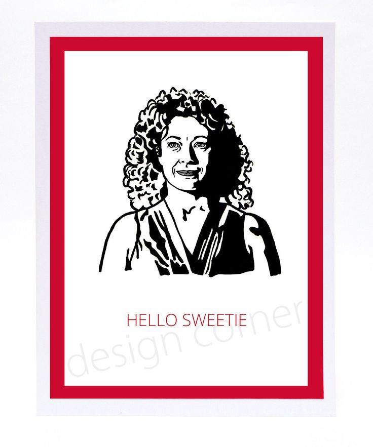 Funny Illustrated Dr Who River Song Hello Sweetie Valentines Card by designcorner on Etsy