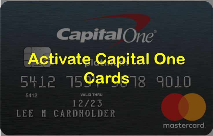 Capital one card activation guide capital one card