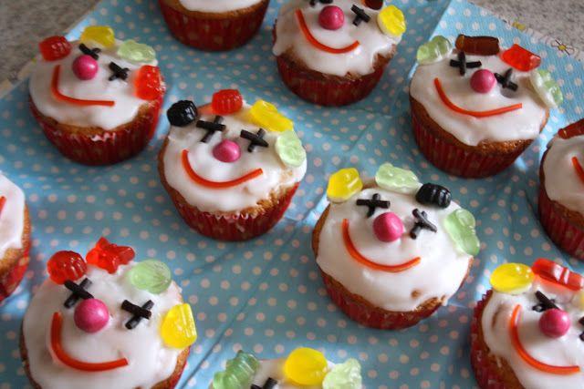 Klovnemuffins - fra min datters fødselsdag