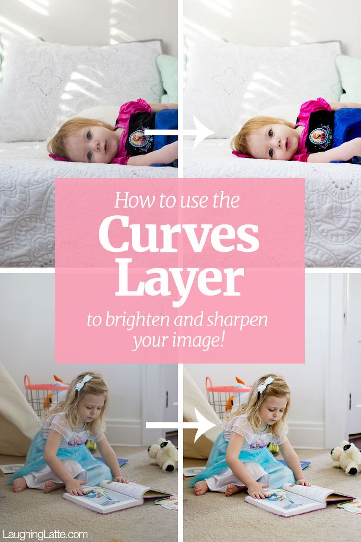 Photoshop Curves Layer: How to use one layer to brighten and sharpen your image in just one step!!