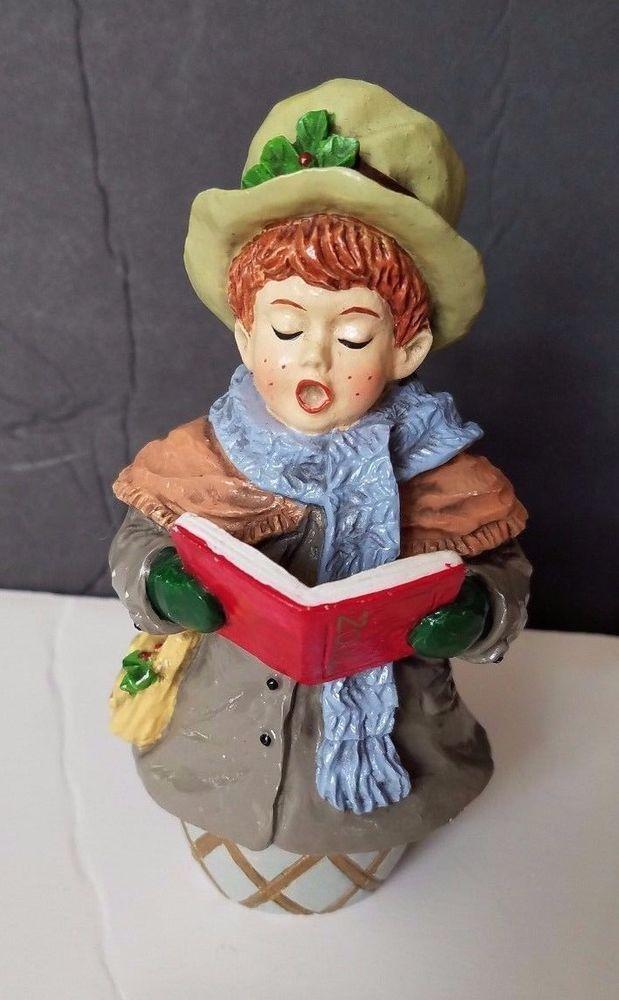 Christmas Caroler Figurine Vintage Victorian Boy