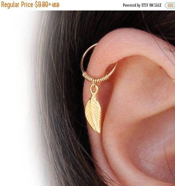 iny Hoop Helix Ring, gold helix earring, silver helix, helix hoop, helix cartilage earring, forward helix earring, helix piercing cartilageHelix hoop - Cartilage piercing - Helix jewelry - Minimal Helix jewelry - Tiny Hoop - Piercing Hoop - Leaf Cartilage Earring  ***Very cool and