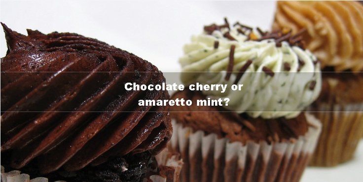 Tell us which is your favourite cupcake, the chocolate cherry or amaretto mint?