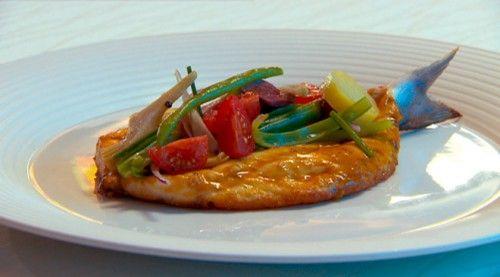 Whole Roasted Sea Bream with Fine Bean Salad http://masterchefrecipe.net/whole-roasted-sea-bream-with-fine-bean-salad/