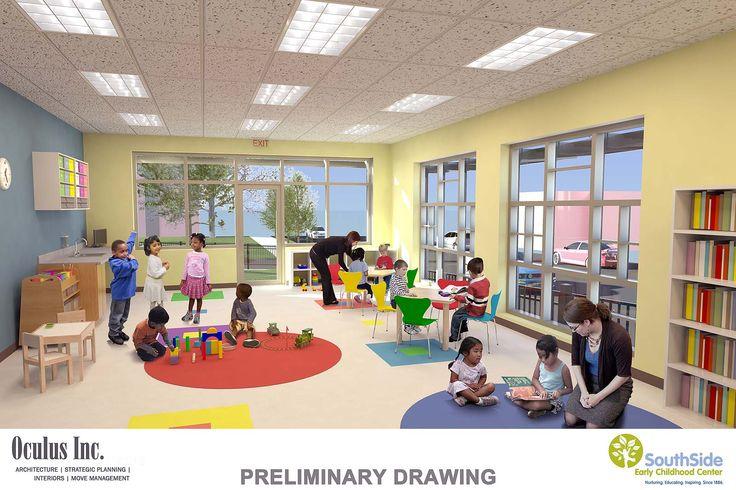 Modern Classroom Plan ~ International preschool room interior design