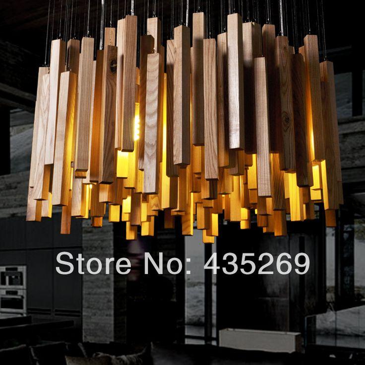 HOT ! HOT! HOT!Creative Hotel of Modern Art Wooden lamps, dining room, living LED chandelier,light&lighting ,free shipping