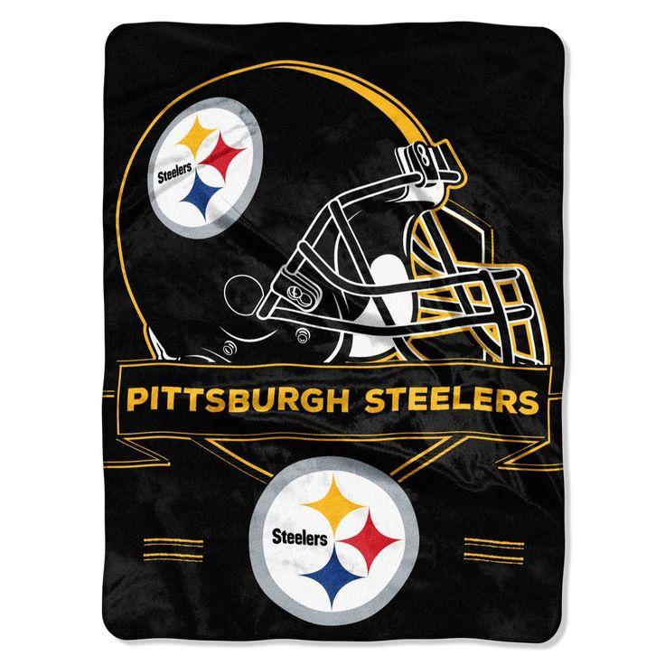 Pittsburgh Steelers Blanket - 60x80 Royal Plush Raschel Throw - Prestige Design