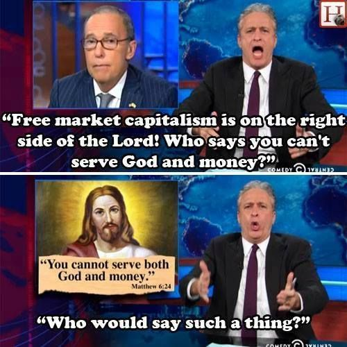 """on the one hand, they're all """"we love jesus"""" but on the other hand, they are the complete opposite of jesus. . . . go figure!"""