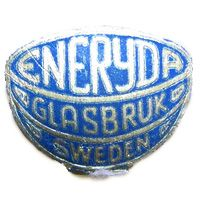 Eneryda Glasbruk Swedish glass foil label.