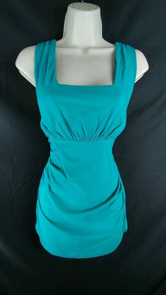 CAbi NEW Teal Roched Sides Square Neckline Tank Top Ladies L | Clothing, Shoes & Accessories, Women's Clothing, Tops & Blouses | eBay!