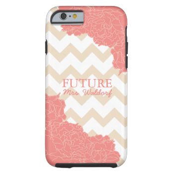 Congratulations on your engagement! Dress your iPhone with this adorable and preppy chevron and peonies case customized with your future last name! #future #mrs #engaged #engagement #chevron #peonies #preppy #chic #classy #modern #pattern #design #illustration #flowers #present #bride #wife #wedding #bridal