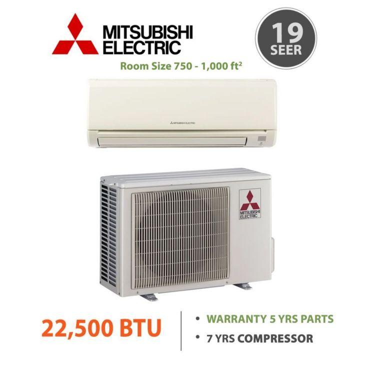 Mitsubishi MR SLIM 22,500 BTU 19 SEER Energy Star Wall Mount Air Conditioner