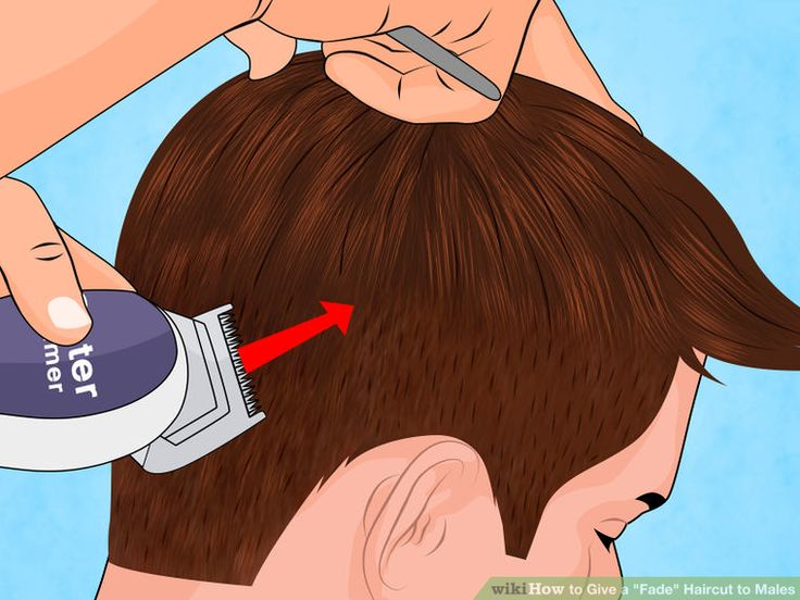 """Image titled Give a """"Fade"""" Haircut to Males Step 9"""