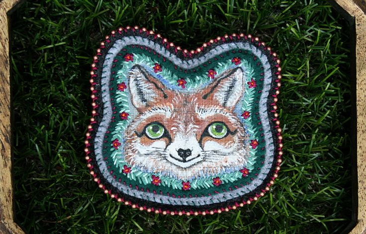Fox - Woodland - Fox Portrait - Hand Painted - Hand Embroidery - Modern Embroidery - Embroidery Art - Fiber Art - Embroidery Design - OOAK by BlackCatCreativeStd on Etsy https://www.etsy.com/listing/464476059/fox-woodland-fox-portrait-hand-painted
