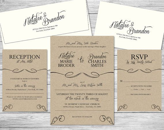 9 best wedding invitations images on pinterest wedding invitation formal wedding invitation suite reply by nvitecustomprints on etsy stopboris Images