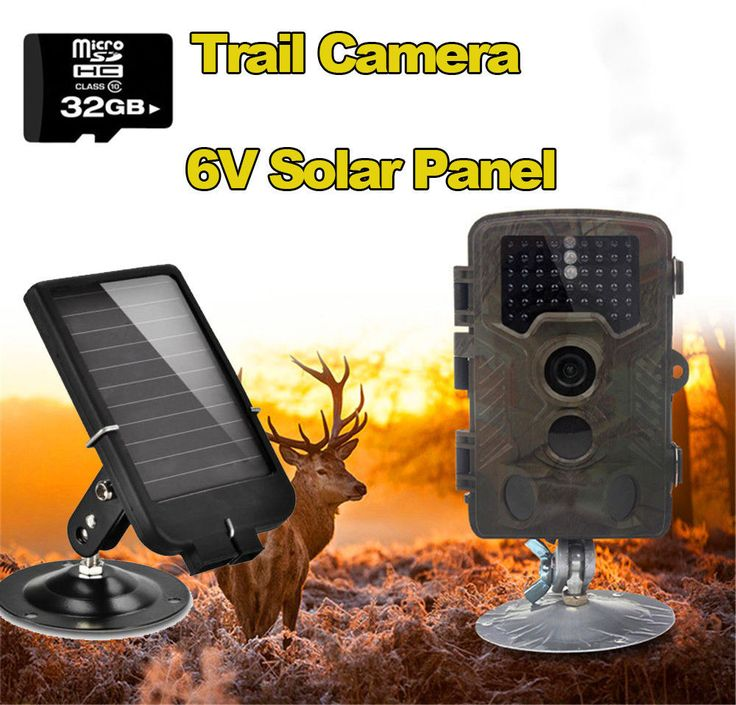 Free Shipping!32GB H801W 12MP Infrared IR Digital Trail Game Hunting Camera +6V Solar Battery