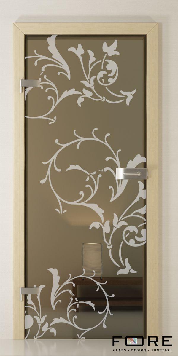 Drzwi szklane Flower 02, glass doors,www.fore-glass.com, #drzwi #drzwiszklane #drzwiwewnetrzne #szklane #glassdoor #glassdoors #interiordoor #glass #fore #foreglass #wnetrza #architektura