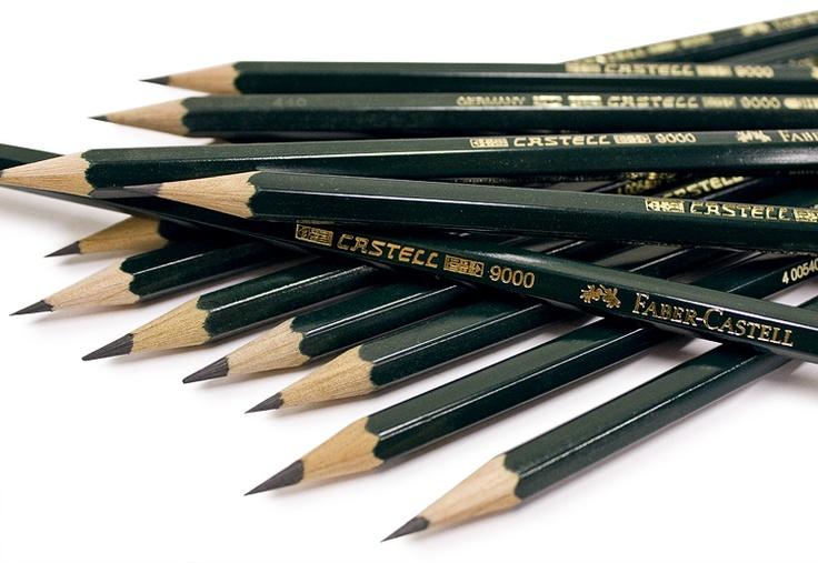 Faber-Castell 9000 Graphite Pencils. Smooth, never scratchy, pure graphite. #fabercastell #graphite #pencil #artsupplies