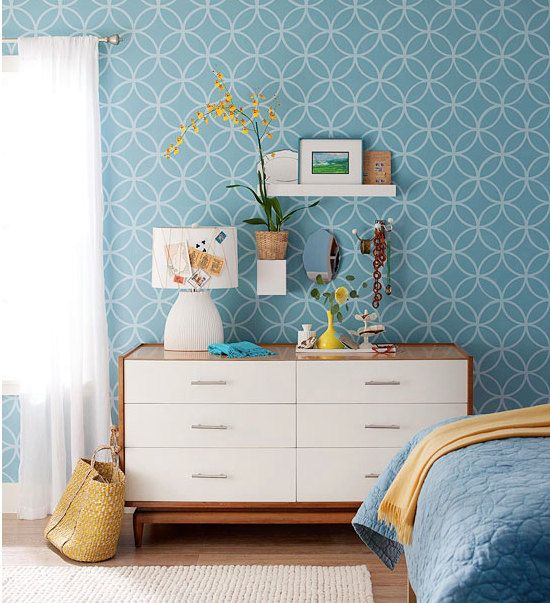 Self adhesive vinyl temporary removable wallpaper wall for Temporary wall ideas