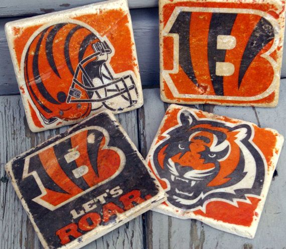 Cincinnati Bengals Drink Coaster/ Go by KandBCreativeDesigns
