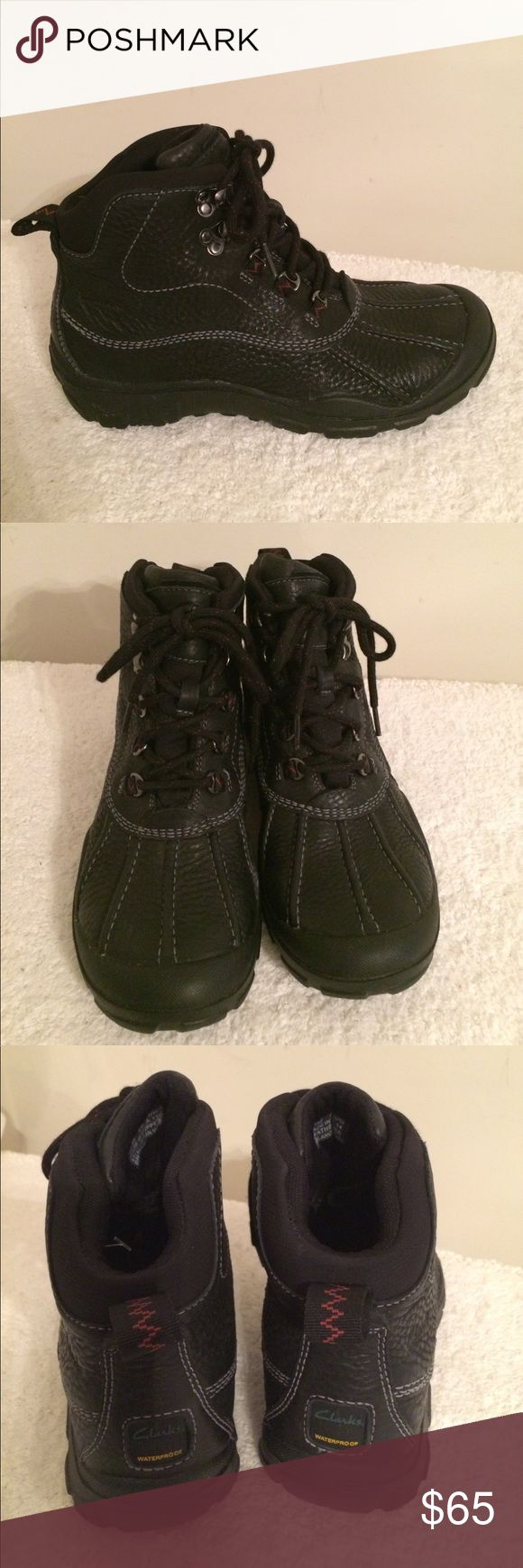 Men's Clarks black boots Very close to brand new. Extremely comfortable. from a non smoker seller. 20% off 3 & more items. Thank you for visiting!!💗 Clarks Shoes Boots