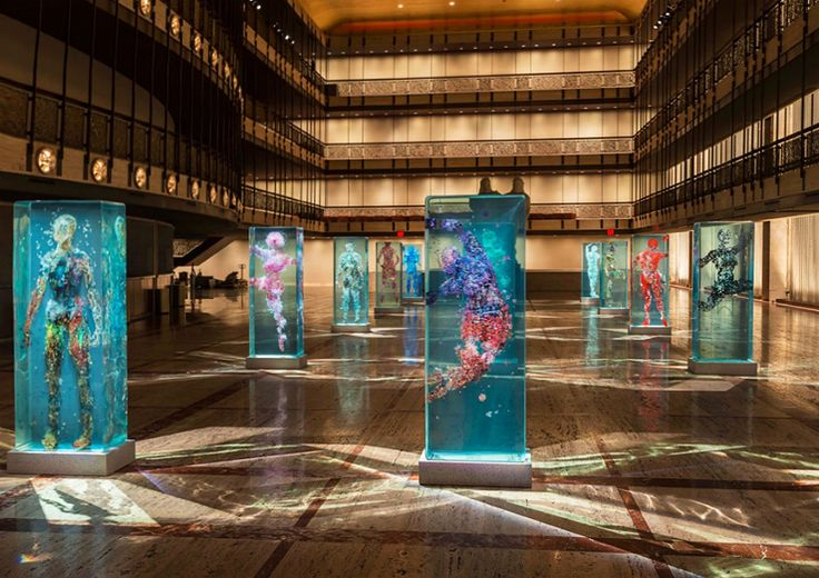 dustin yellin infills lincoln center with glass dancers for the NYC ballet - designboom | architecture