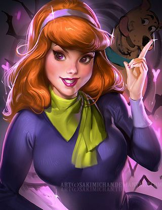 Mystery, Inc.'s Velma and Daphne look sultry in this beautifully created fan art.