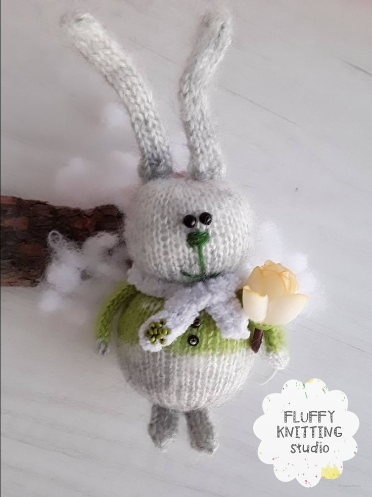Excited to share the latest addition to my #etsy shop: Rabbit knitted toy,Easter toys, Stuffed bunny Rabbit knit doll Fluffy soft rabbit little rabbit long ears baby gift toy for girls boys http://etsy.me/2FzlrBN #toys #children #gray #babyshower #easter #green #knitte