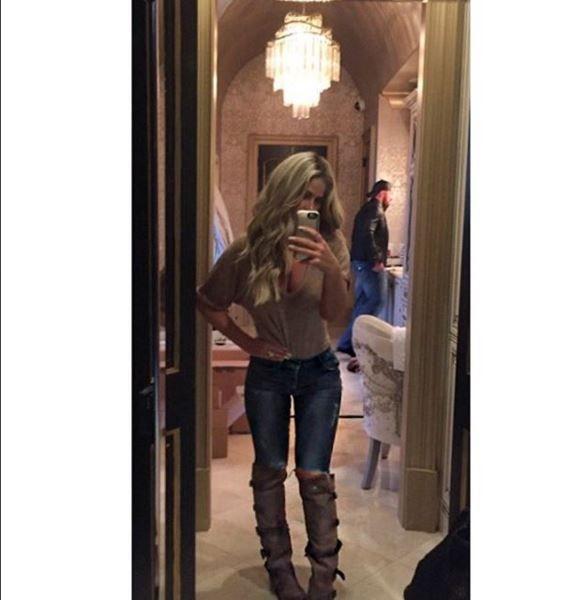 Kim Zolciak's Brown Wrap Instagram Boots | http://www.bigblondehair.com/real-housewives/kim-zolciaks-brown-wrap-instagram-boots/