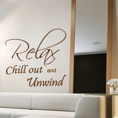 Relax Bedroom Wall Quotes Art Wall Stickers / Wall Decals / Wall Mural From  AmazingSticker.