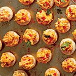Cornmeal Tarts with Ricotta Pimiento Cheese Recipe | MyRecipes.com