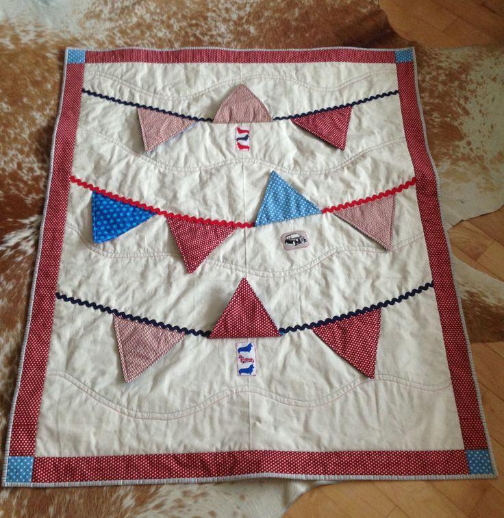 British bunting baby quilt