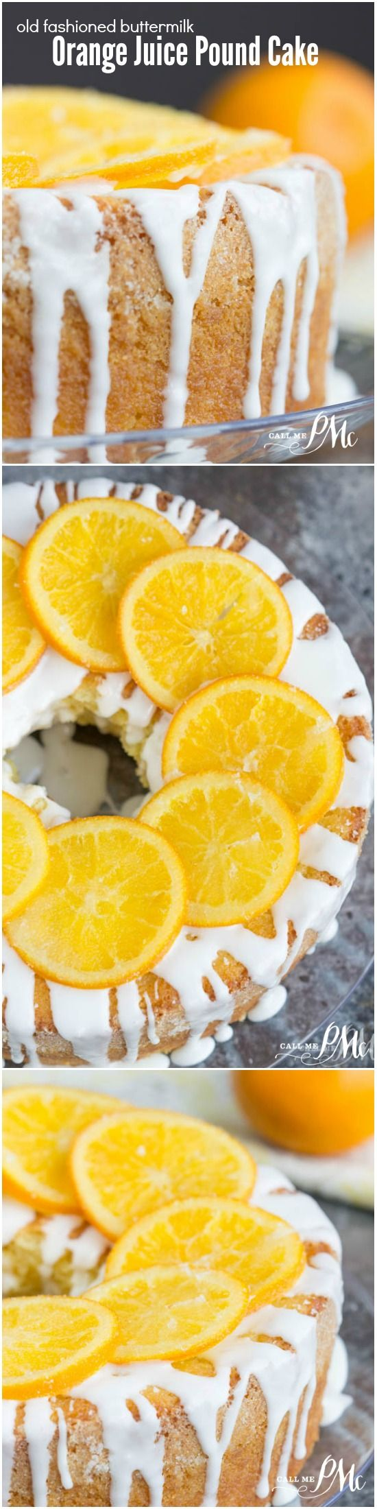 Moist and buttery, my Old Fashioned Buttermilk Orange Juice Pound Cake is bursting with orange flavor. The orange glaze adds a nice sweetness and the candied orange slices make a beautiful presentation.