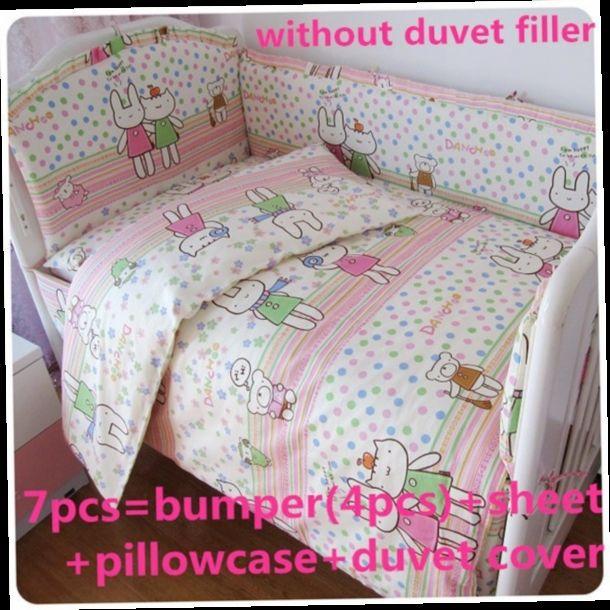 42.80$  Buy now - http://ali79q.worldwells.pw/go.php?t=32461310738 - Promotion! 6/7PCS Baby Bedding Set/Cotton Crib Bedding Sets,Cunas Set,Good Quality ,120*60/120*70cm