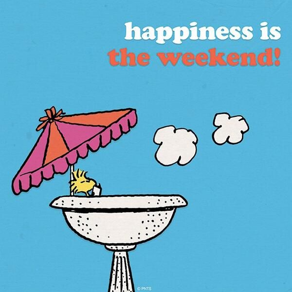 'Happiness is.....the Weekend', Woodstock, the world of Charlie Brown.