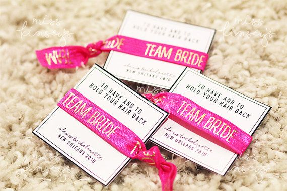 Hair Ties for Wedding, Bachelorette or Briday Party Favors