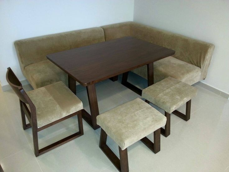 Soild Wood Dining Table With Sofa, Chair And Stools