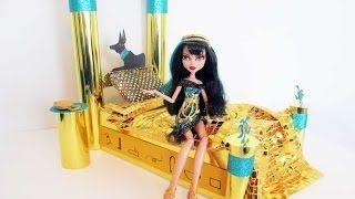 How to Make a Cleo de Nile Monster High Doll Bed YouTube Video by Chad Alan