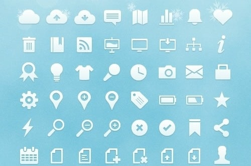 Tons of nice free icon sets for web design