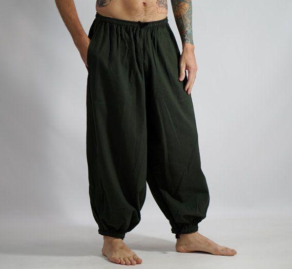 PANTALONES BAGGY verde del ejército Steampunk ropa por zootzugarb