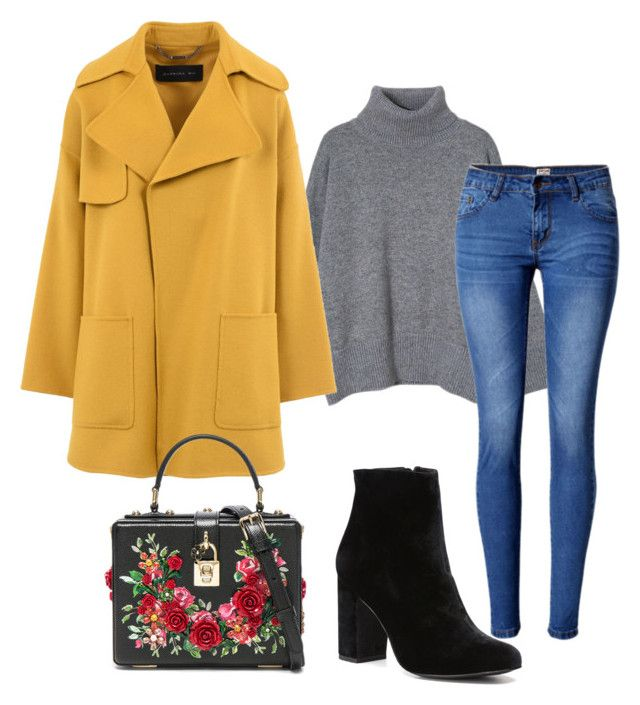 """Winterotf"" by kikaa18 on Polyvore featuring moda, Barbara Bui, WithChic, Witchery y Dolce&Gabbana"