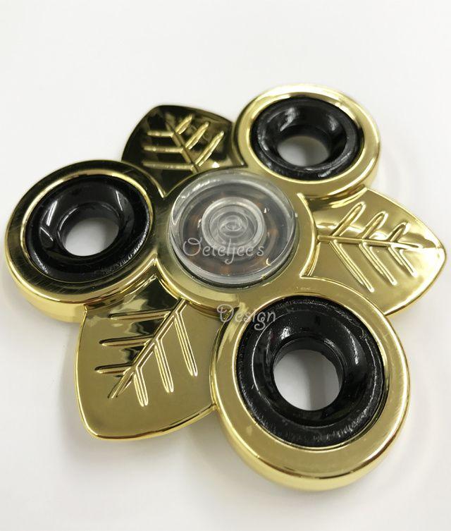Fidget hand spinner chrome metallic goud blad