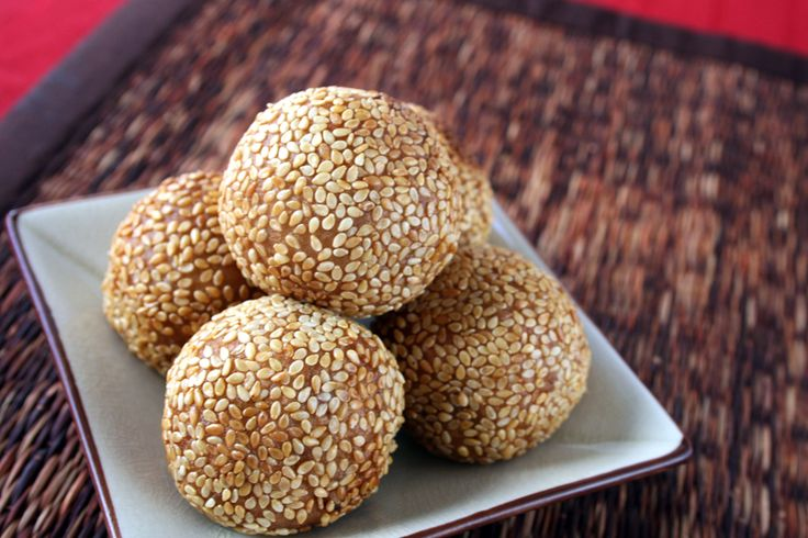 Bene balls - sweet sesame confection eaten in Trinidad and Tobago.