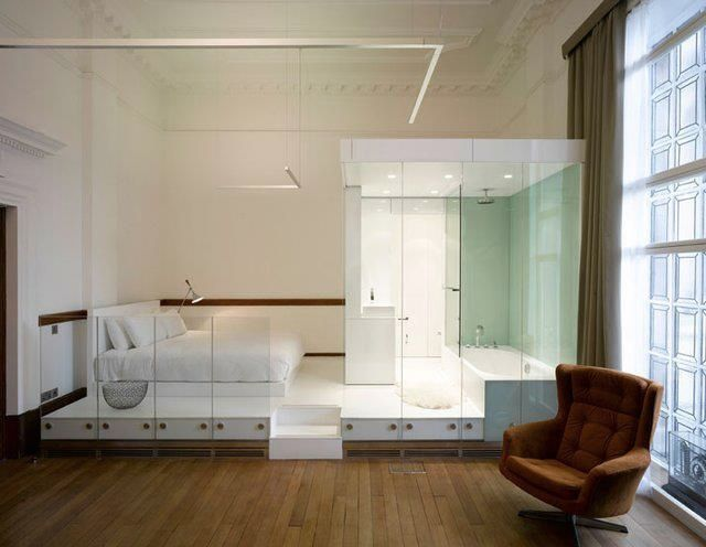 Quite whimsical!Minimalist Design, Guest Room, Hall Hotels, Bedrooms Design, Interiors, Hotels In London, Town Hall, Bedrooms Suits, White Bedrooms