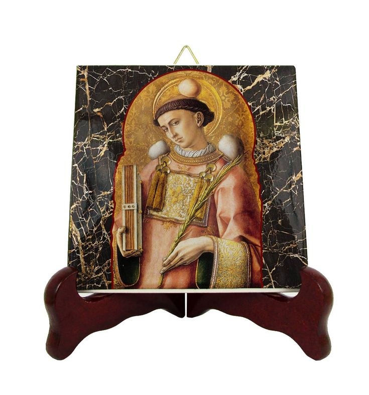 Now on #etsy: Saint Stephen icon on tile - handmade in Italy by @TerryTiles2014 #saint #stephen #saintstephenicon #StStephen #saints #catholicgifts #catholicsaints http://etsy.me/2HjnRET