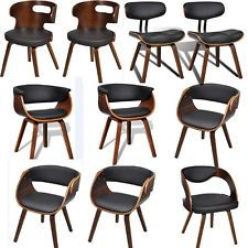 Eames Retro Style Leather Dining Chairs Lounge Office Chair Wooden Bentwood