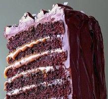 Recette - Layer cake au chocolat et caramel - Proposée par 750 grammes