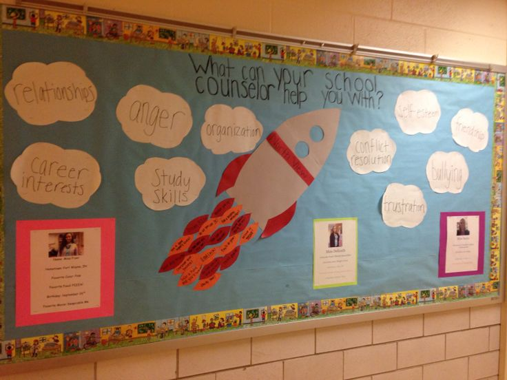 Check out Natalie and I's bulletin board for National School Counseling Week! What can your school counselor help you with?